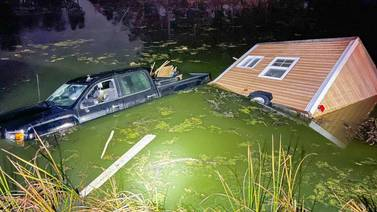 Cold case: Man accused of DWI drives truck into icy Wisconsin lake