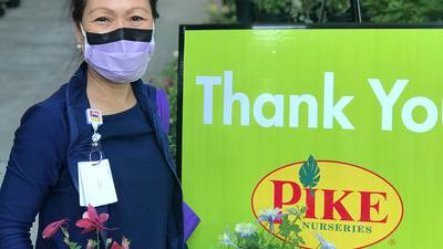Pike Nurseries donates 1,000 plants to honor local doctors, nurses