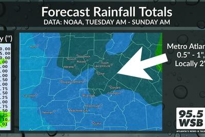 Nicholas' remnants moving east, rain on the way for Metro Atlanta